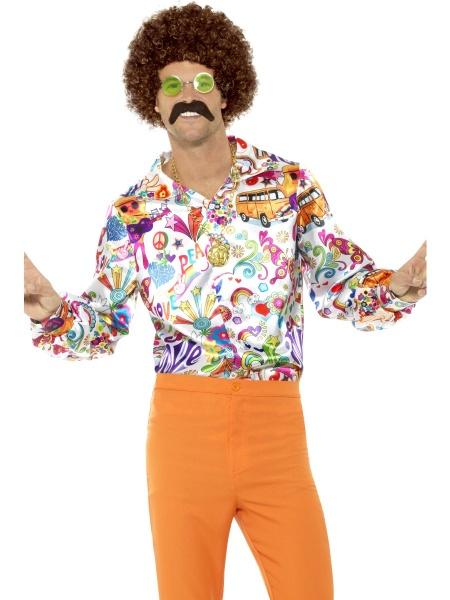 Pánská barevná retro košile - Ptákoviny 7b50c50057