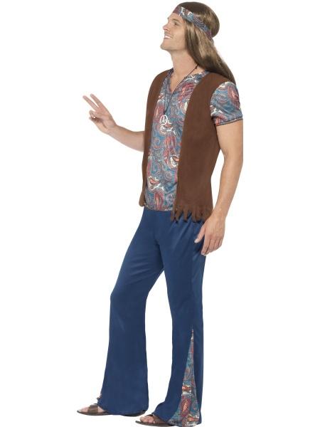f232ad826841 Pánský hippie kostým je tvořen typickým barevným topem