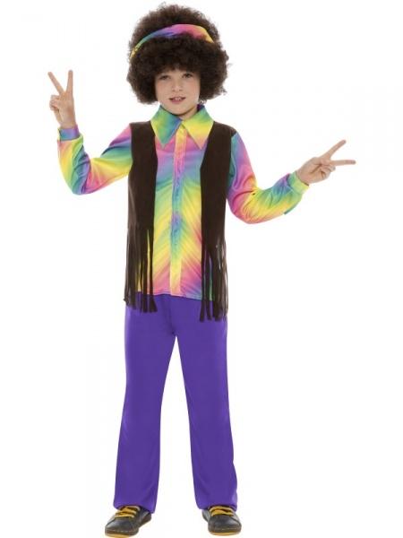 Tento kostým ze 60. let je vhodný na párty ve stylu květinových dětí nebo  na dětské karnevaly. Je vhodný pro holčičky i chlapečky. 45b839e4ed6