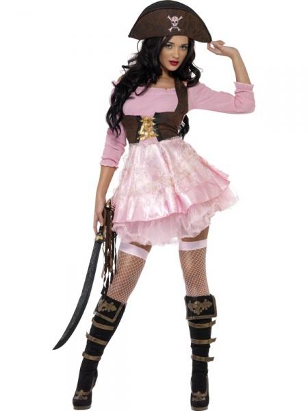 0ee2fa8e3d5a Sexy kostým pirátka pink - Ptákoviny