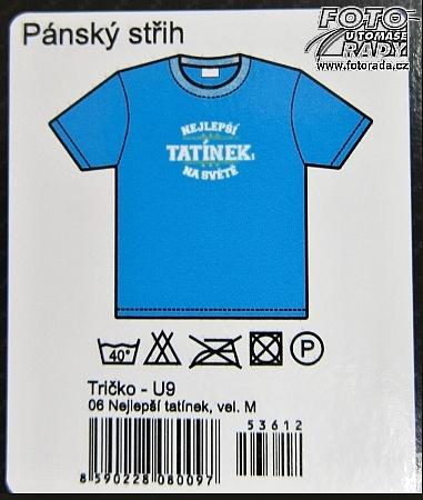 04bb56fe011 Tmavě modré tričko s bílým nápisem