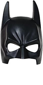 Černá maska batmana přes obličej pro děti